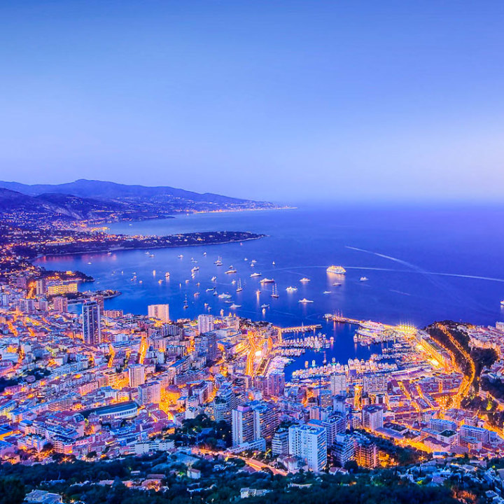 Monaco and its surroundings